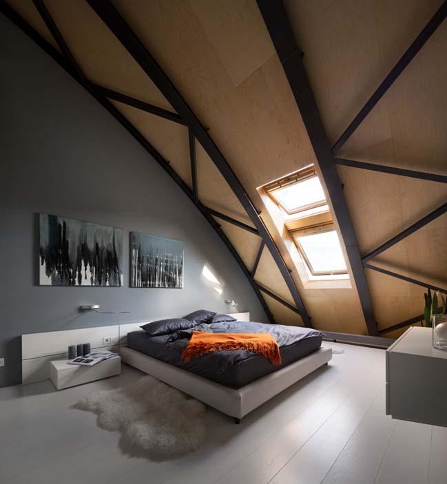 can ho chung cu 11 Tham quan căn hộ sang trọng với kiến trúc mái vòm độc đáo