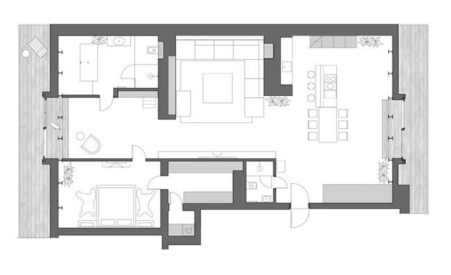 can ho chung cu 16 Tham quan căn hộ sang trọng với kiến trúc mái vòm độc đáo
