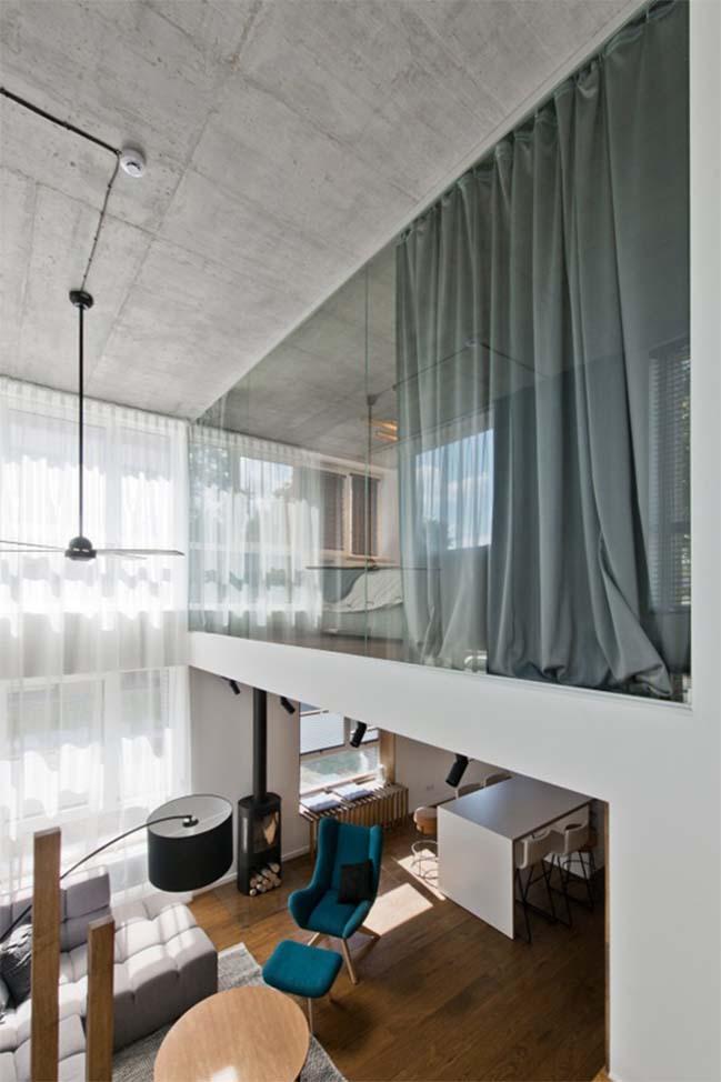 Nhà gác lửng sang trọng với thiết kế Scandinavian
