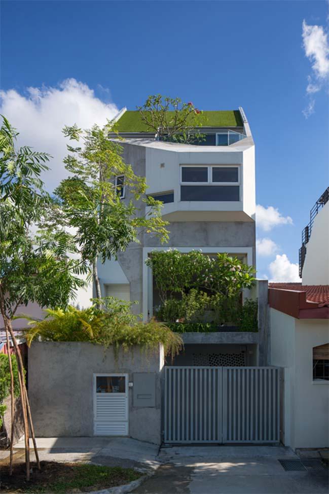 nha pho dep 01 Gợi ý thiết kế nhà phố đẹp tràn ngập không gian xanh và ánh sáng
