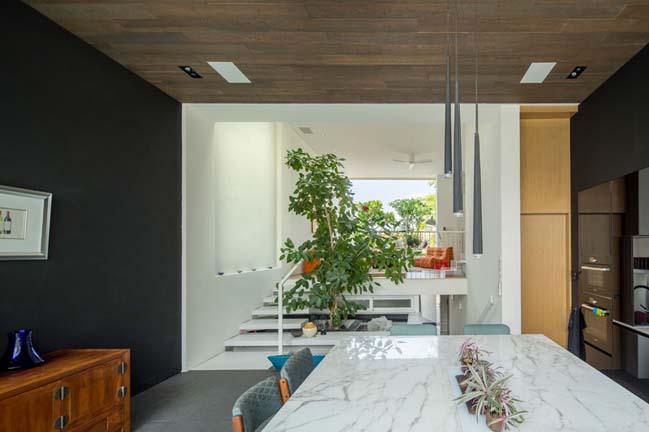 nha pho dep 05 Gợi ý thiết kế nhà phố đẹp tràn ngập không gian xanh và ánh sáng
