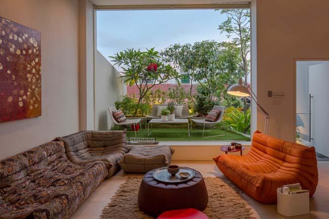 nha pho dep 07 Gợi ý thiết kế nhà phố đẹp tràn ngập không gian xanh và ánh sáng