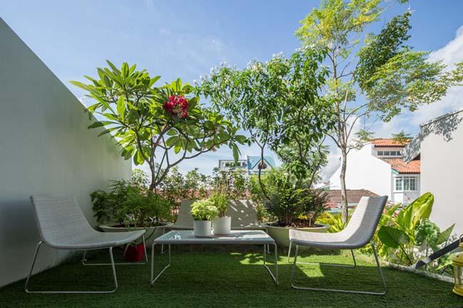 nha pho dep 08 Gợi ý thiết kế nhà phố đẹp tràn ngập không gian xanh và ánh sáng