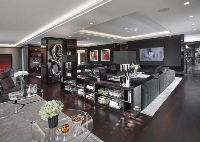 can ho penthouse 03 Chiêm ngắm mẫu nhà đẹp với tông màu tối cá tính