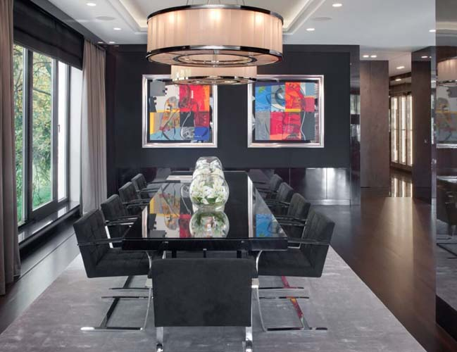 can ho penthouse 05 Chiêm ngắm mẫu nhà đẹp với tông màu tối cá tính