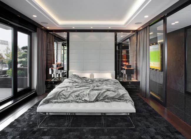 can ho penthouse 07 Chiêm ngắm mẫu nhà đẹp với tông màu tối cá tính