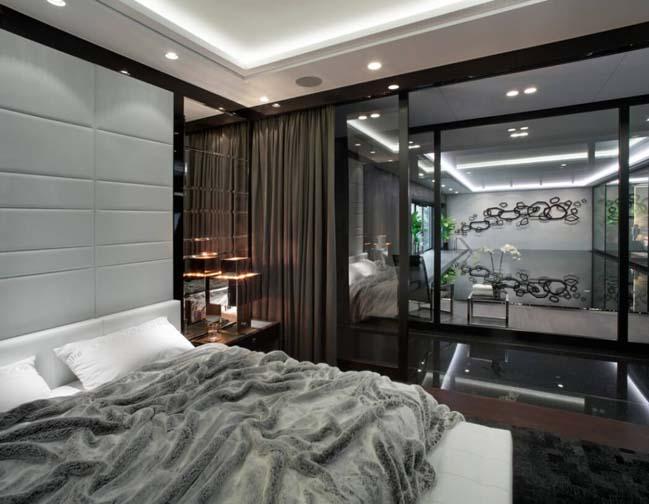 can ho penthouse 08 Chiêm ngắm mẫu nhà đẹp với tông màu tối cá tính