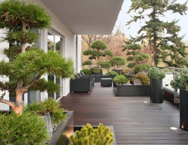 can ho penthouse 12 Chiêm ngắm mẫu nhà đẹp với tông màu tối cá tính