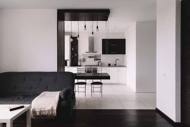 can ho chung cu 1 phong ngu 02 Thiết kế nội thất đơn giản tinh tế cho căn hộ 1 phòng ngủ