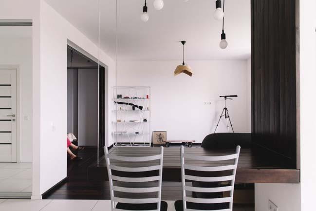 can ho chung cu 1 phong ngu 05 Thiết kế nội thất đơn giản tinh tế cho căn hộ 1 phòng ngủ