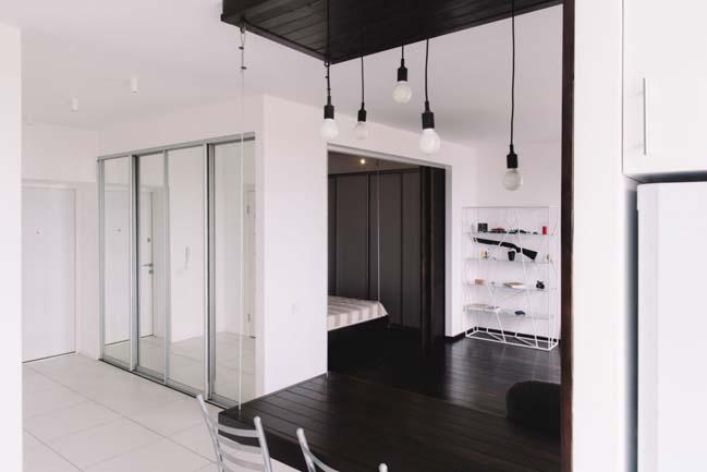 can ho chung cu 1 phong ngu 06 Thiết kế nội thất đơn giản tinh tế cho căn hộ 1 phòng ngủ