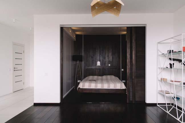 can ho chung cu 1 phong ngu 07 Thiết kế nội thất đơn giản tinh tế cho căn hộ 1 phòng ngủ