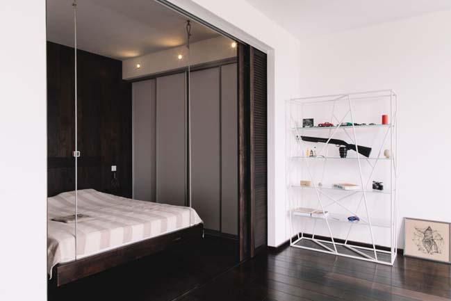 can ho chung cu 1 phong ngu 08 Thiết kế nội thất đơn giản tinh tế cho căn hộ 1 phòng ngủ