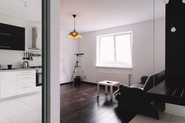 can ho chung cu 1 phong ngu 10 Thiết kế nội thất đơn giản tinh tế cho căn hộ 1 phòng ngủ