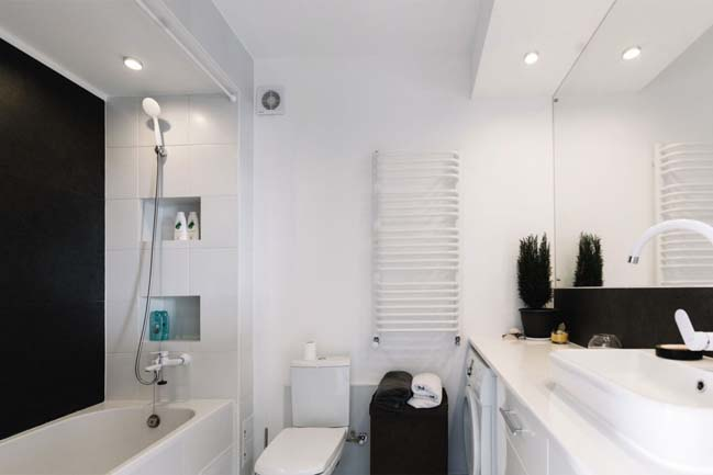 can ho chung cu 1 phong ngu 11 Thiết kế nội thất đơn giản tinh tế cho căn hộ 1 phòng ngủ