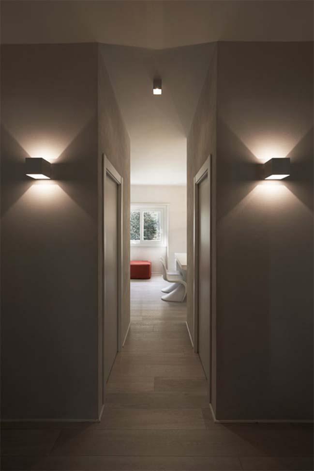 Cải tạo căn hộ với nội thất trắng sáng