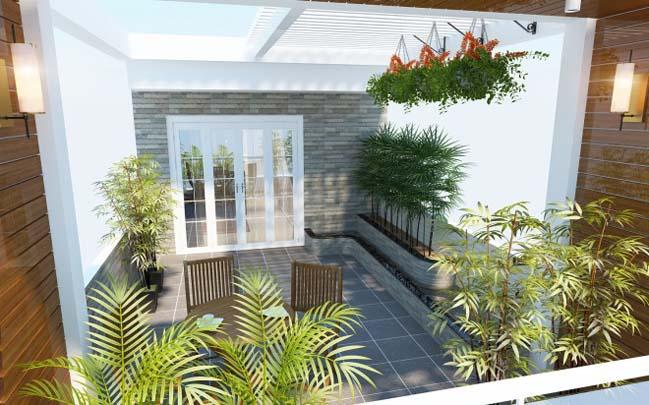 nha pho dep 10 Gợi ý thiết kế nhà phố đẹp 60m2 với màu trắng chủ đạo