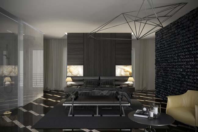Thiết kế phòng ngủ đẹp với tông màu xám