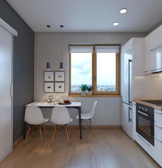 Thiết kế nội thất nhà bếp cho không gian nhỏ
