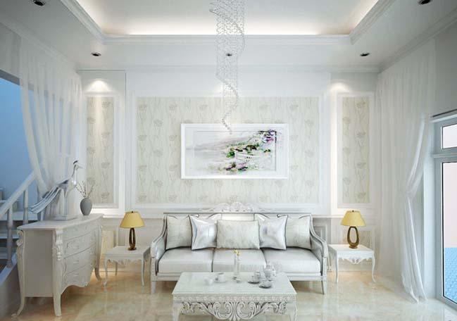 thiet ke nha pho dep 3 tang 02 Nhà phố đẹp 3 tầng với thiết kế Châu Âu sang trọng và hiện đại