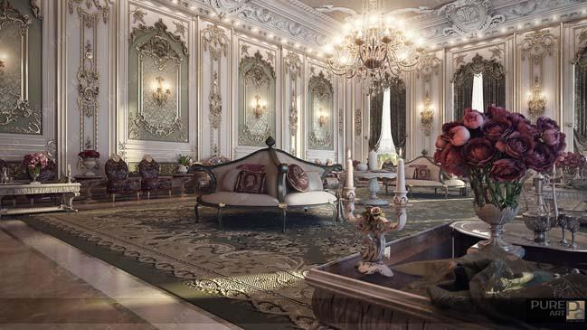 Những mẫu phòng khách đẹp xa hoa và tráng lệ