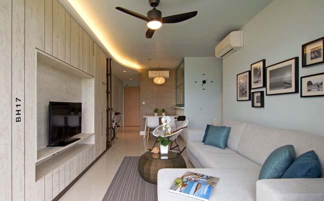 Căn hộ 2 phòng ngủ với nội thất gỗ mộc mạc