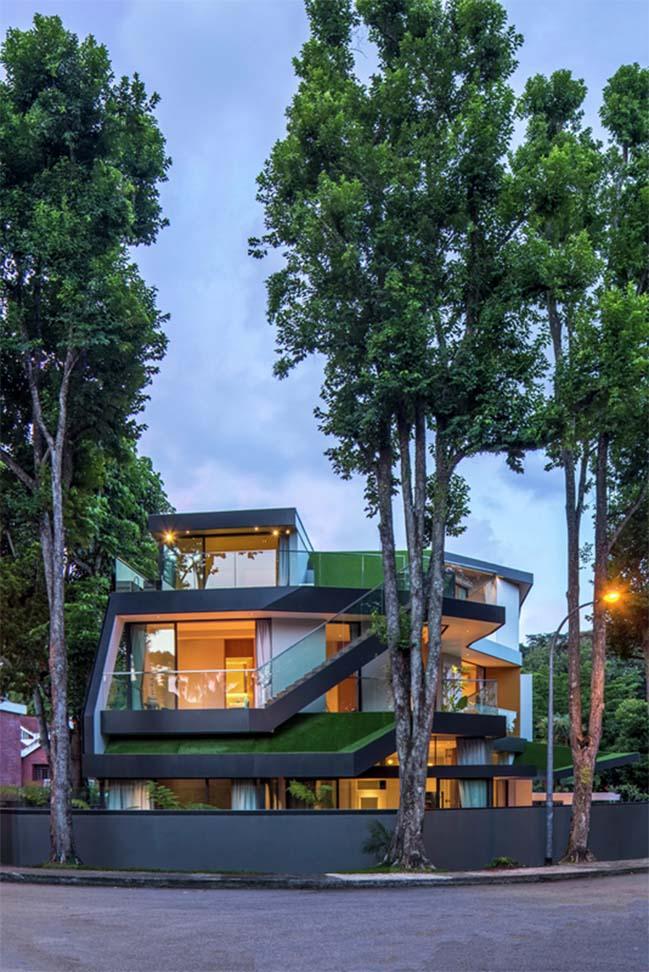 Biệt thự đẹp với thiết kế phủ xanh độc đáo
