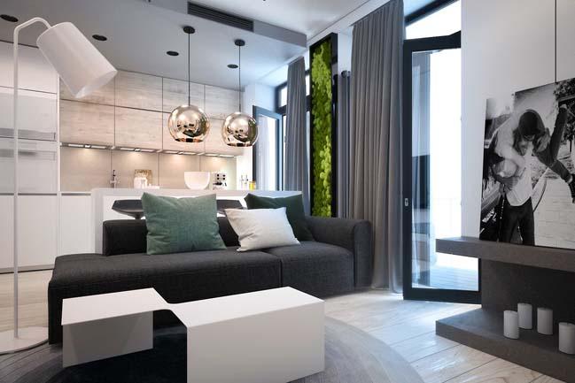 Thiết kế nội thất tinh tế cho căn hộ nhỏ đẹp