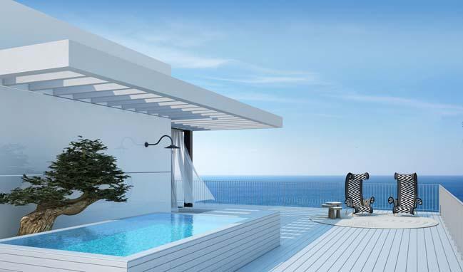 Căn hộ penthouse tuyệt đẹp nhìn ra toàn cảnh biển