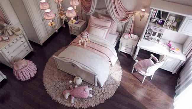 Thiết kế nội thất phòng ngủ đẹp với tông màu hồng