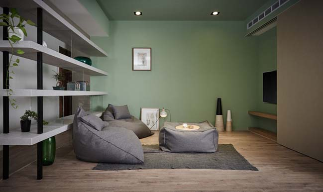 Ấn tượng căn hộ chung cư với khu vui chơi trong nhà