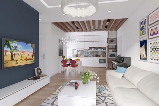 can ho chung cu 96m2 04 Cải tạo nội thất cho căn hộ 96m2 đẹp như penthouse