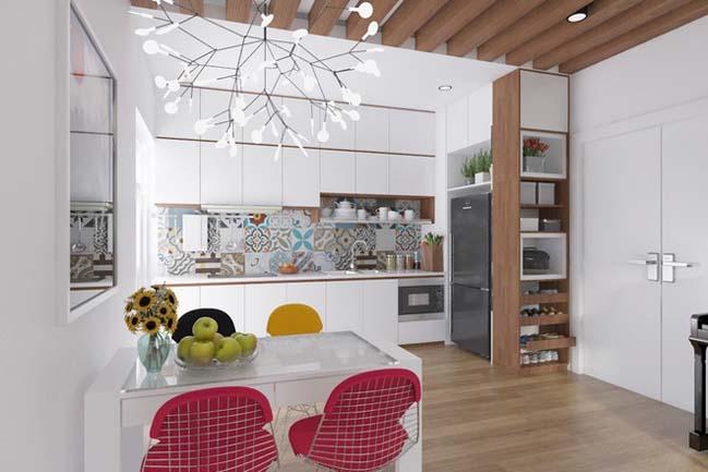 can ho chung cu 96m2 05 Cải tạo nội thất cho căn hộ 96m2 đẹp như penthouse