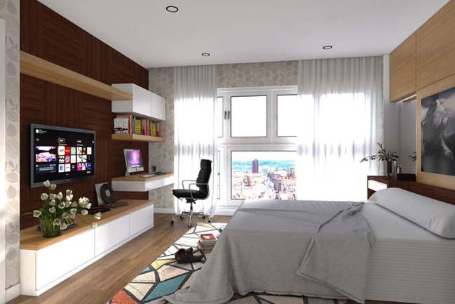 can ho chung cu 96m2 06 Cải tạo nội thất cho căn hộ 96m2 đẹp như penthouse