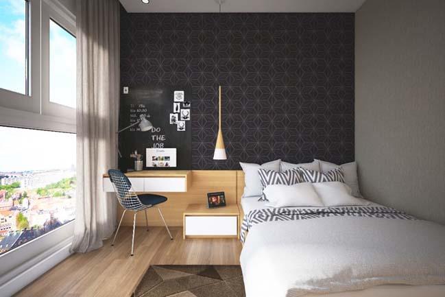can ho chung cu 96m2 07 Cải tạo nội thất cho căn hộ 96m2 đẹp như penthouse