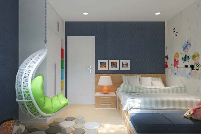 can ho chung cu 96m2 08 Cải tạo nội thất cho căn hộ 96m2 đẹp như penthouse
