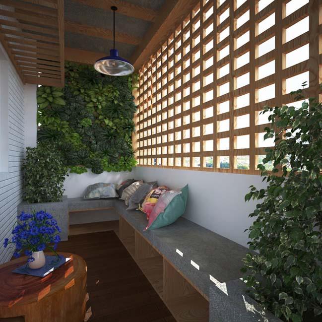can ho chung cu 96m2 09 Cải tạo nội thất cho căn hộ 96m2 đẹp như penthouse