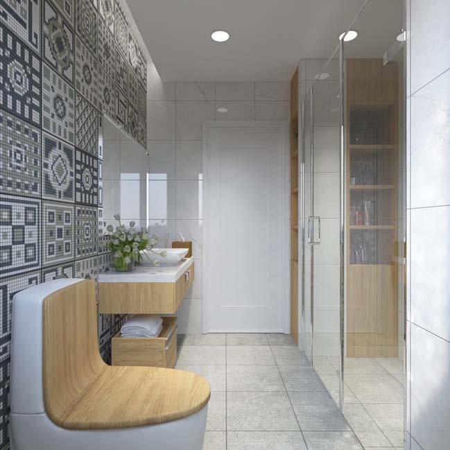 can ho chung cu 96m2 10 Cải tạo nội thất cho căn hộ 96m2 đẹp như penthouse