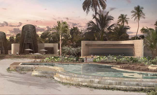 Khách sạn sang trọng với kiến trúc của người Maya