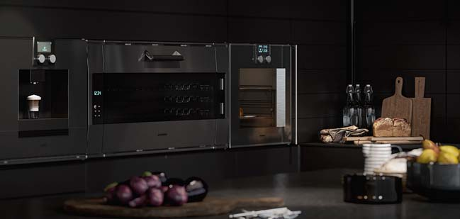 Thiết kế nhà bếp đẹp với tông màu đen cá tính