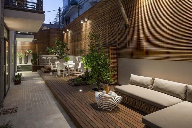 nha dep 12 Gợi ý thiết kế nhà đẹp với khoảng vườn xanh