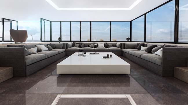 can ho penthouse 03 Bãi cát vàng trong căn hộ penthouse sang trọng với thiết kế đương đại