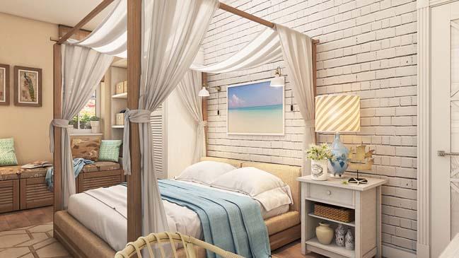 Mẫu phòng ngủ đẹp với phong cách Địa Trung Hải