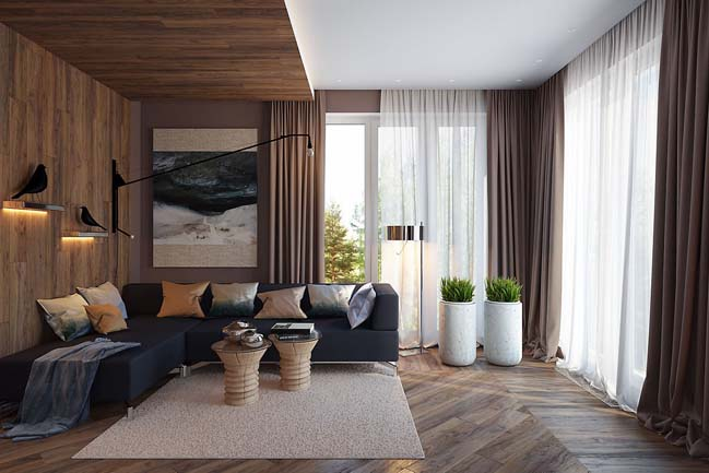4 mẫu phòng khách đẹp với nội thất gỗ ấm áp