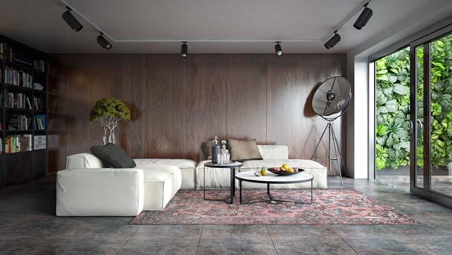 phong khach dep 03 Cùng nhìn qua 4 mẫu phòng khách đẹp với nội thất gỗ ấm áp