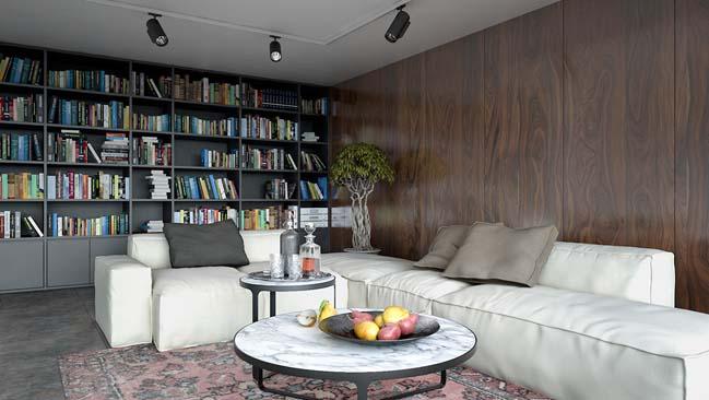 phong khach dep 04 Cùng nhìn qua 4 mẫu phòng khách đẹp với nội thất gỗ ấm áp