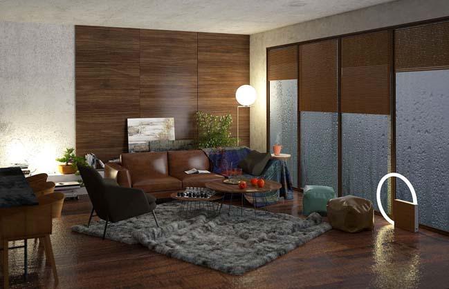 phong khach dep 07 Cùng nhìn qua 4 mẫu phòng khách đẹp với nội thất gỗ ấm áp