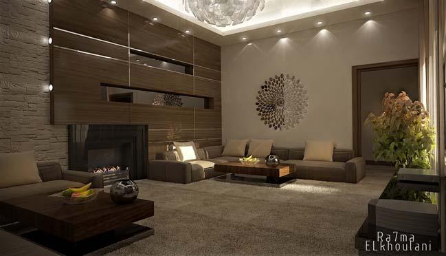 phong khach dep 10 Cùng nhìn qua 4 mẫu phòng khách đẹp với nội thất gỗ ấm áp