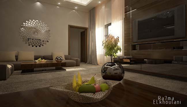 phong khach dep 11 Cùng nhìn qua 4 mẫu phòng khách đẹp với nội thất gỗ ấm áp