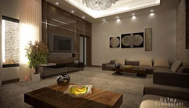 phong khach dep 12 Cùng nhìn qua 4 mẫu phòng khách đẹp với nội thất gỗ ấm áp